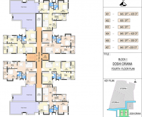 Block 1 - (FOURTH FLOOR) Floor Plan
