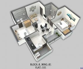 Isometric view Block B